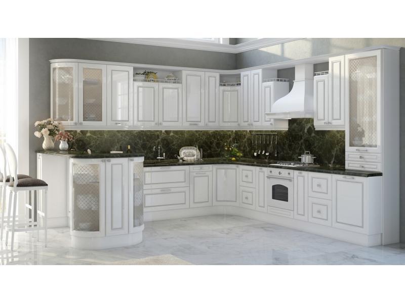 Кухня угловая Bianca silver