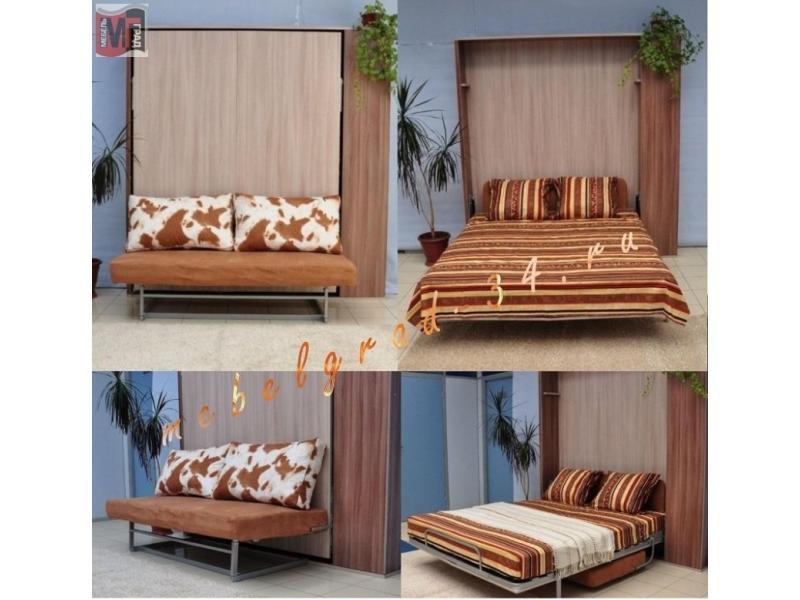 Кровать подъемная Амалия с диваном
