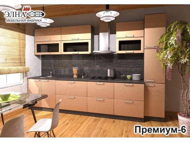 Кухня прямая Премиум 6