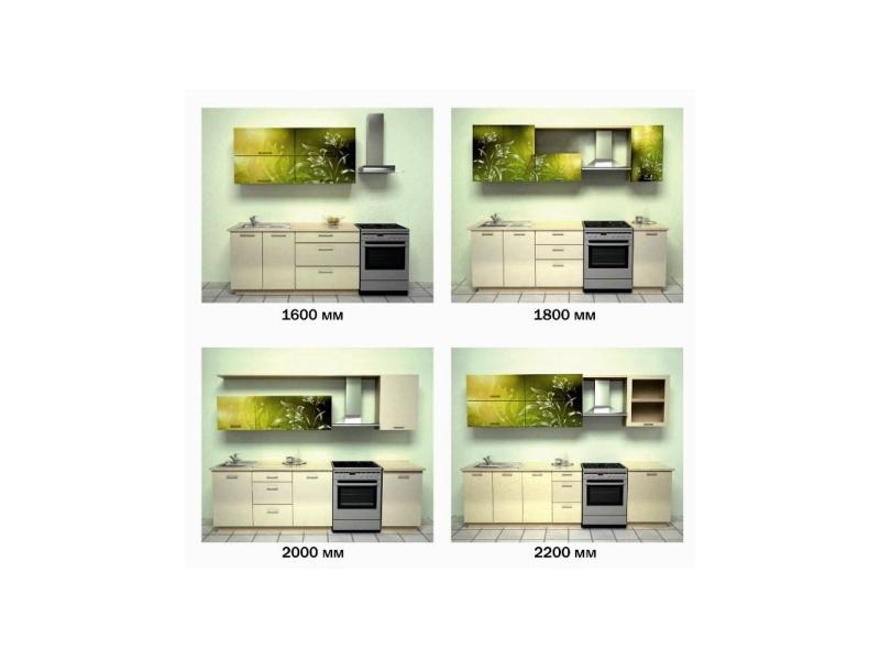 Кухонный гарнитур Зеленый лилии