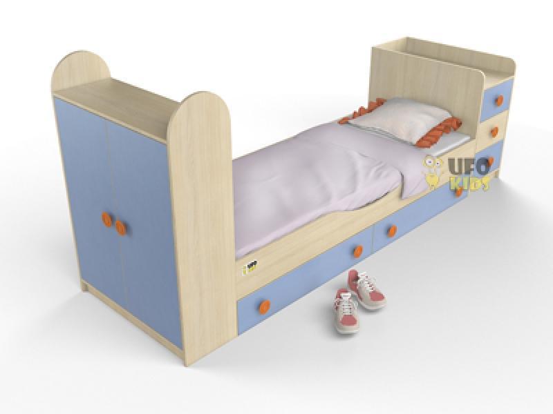 Кровать детская со шкафом