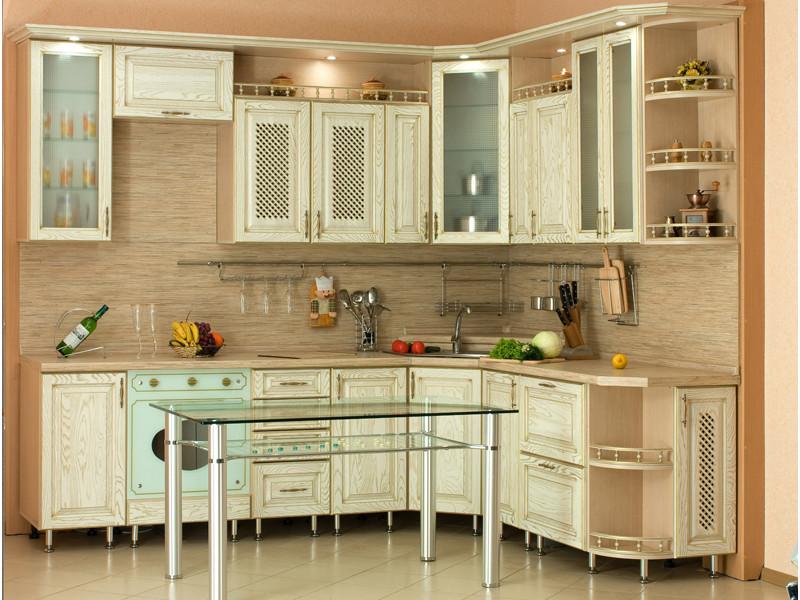 Кухня угловая Дебби патина