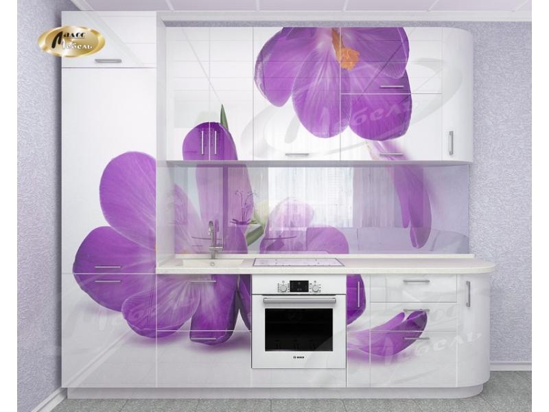 Кухня прямая «Крокус WHite Gloss»