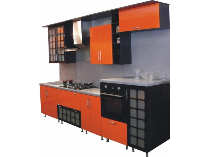 кухня Золушка глянцевая c решетками