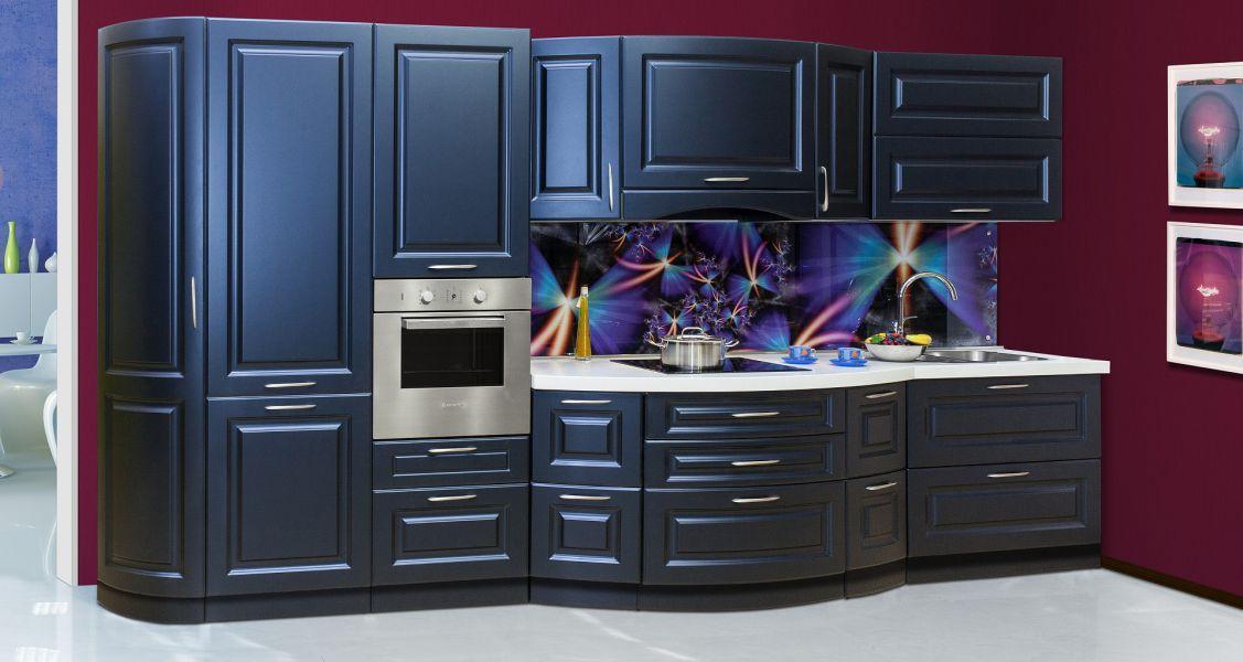 Кухня Темно-синий металлик
