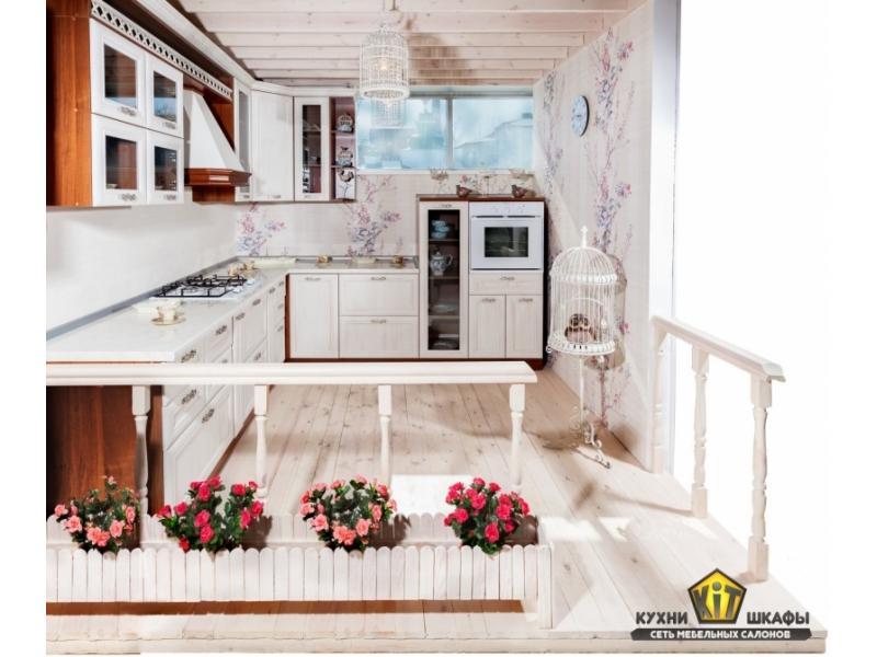 Кухня Николь Бьянка белая