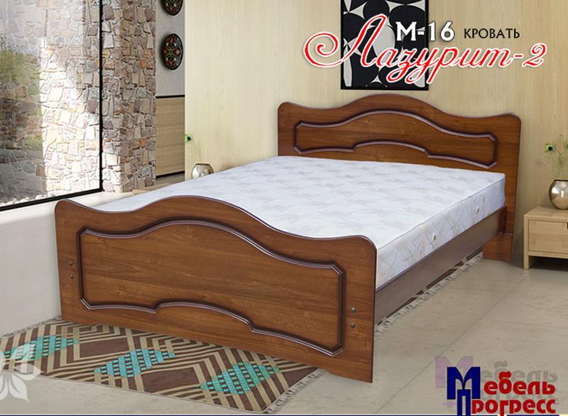 Кровать «Лазурит 2» М-16