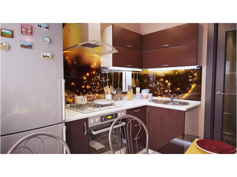 Кухня угловая МДФ Кэрри