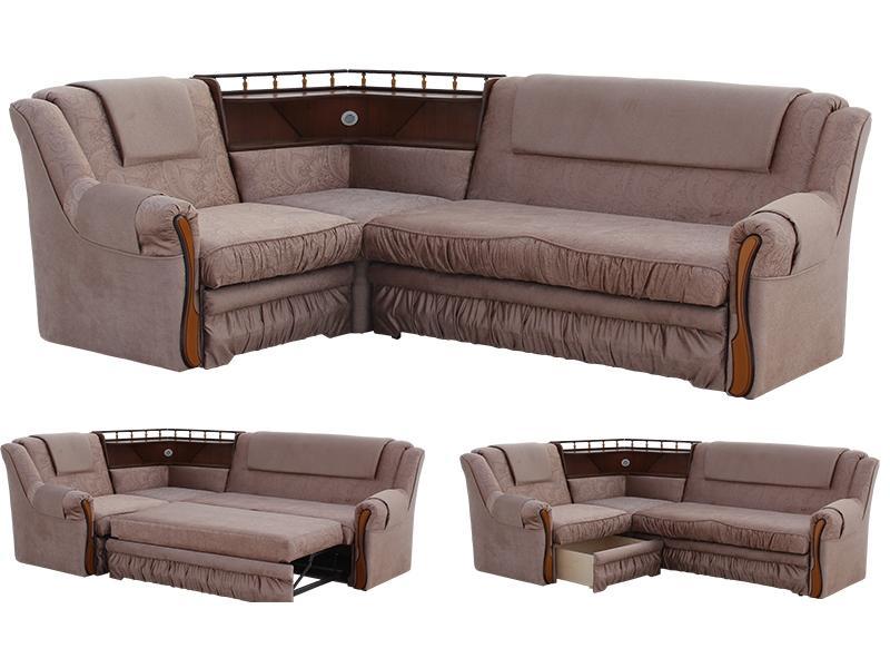 Угловой диван Ассамблея 2 с баром