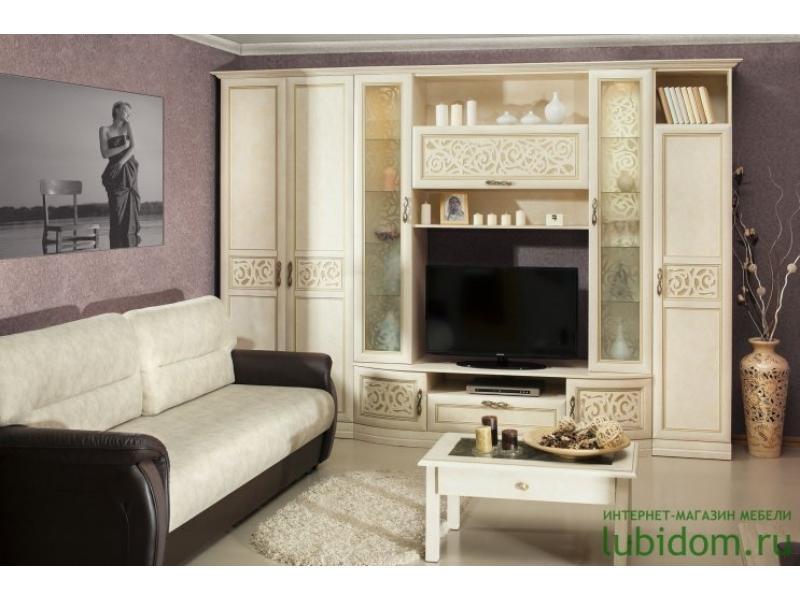 гостиная стенка Александрия кожа ленто