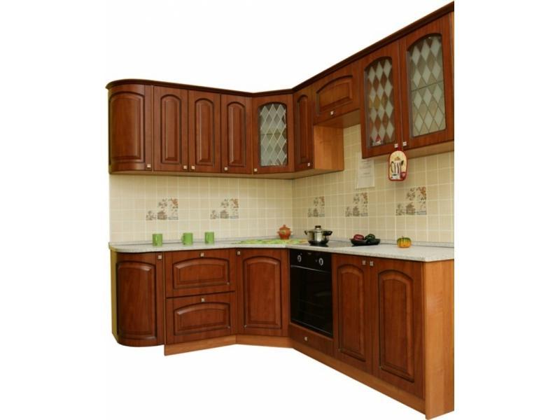Кухня угловая Патина Черешня