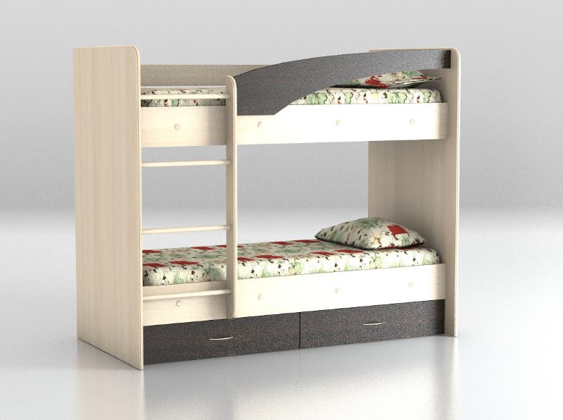 Кровать двухъярусная Венге