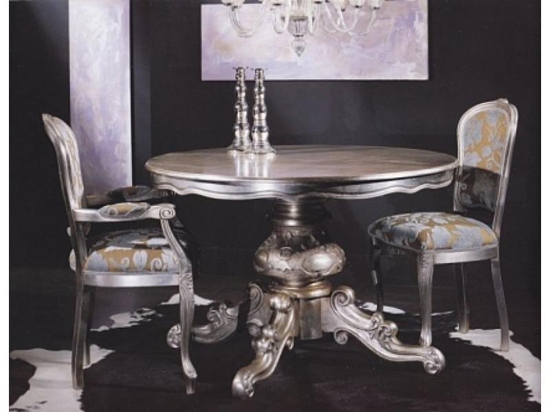 Стул SILVER LEAF серебро/ ткань UPH GENE 3099 COL BLACK