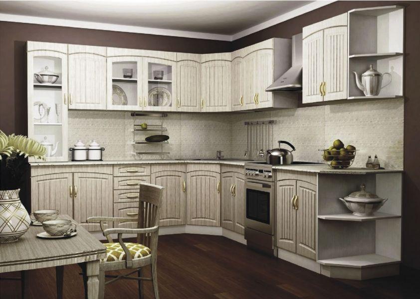 Белая кухня в стиле Прованс 1