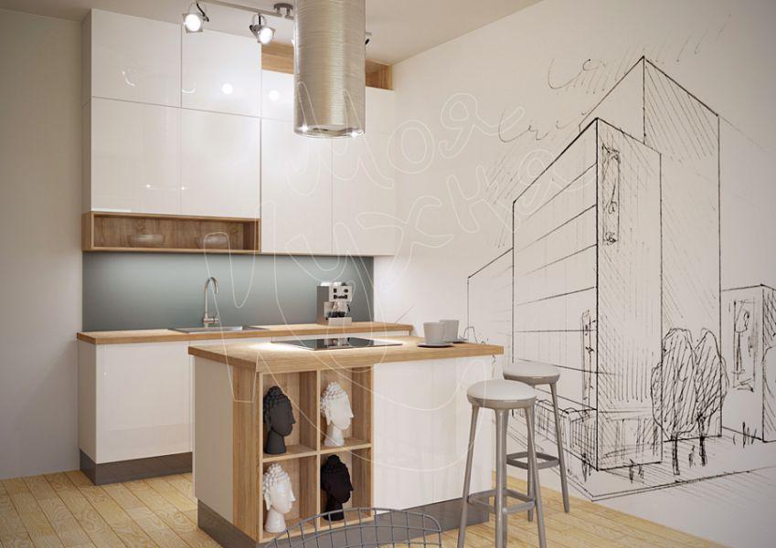 Белая кухня Графика