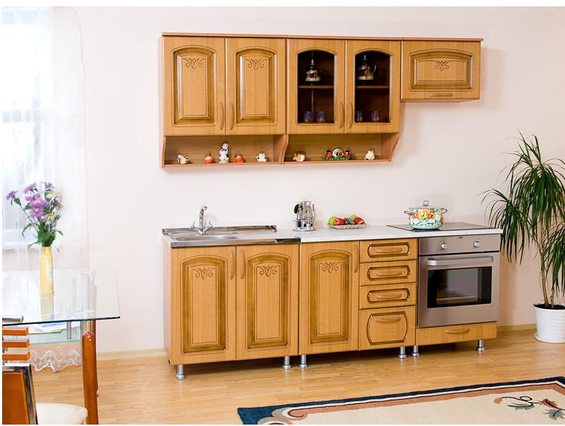 Кухня прямая Андреа патина