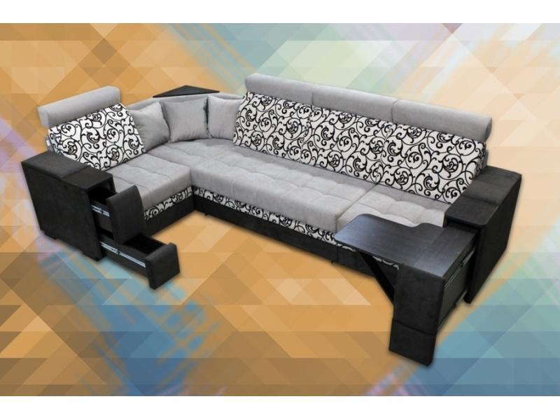 Угловой диван Марта 2 закругленная