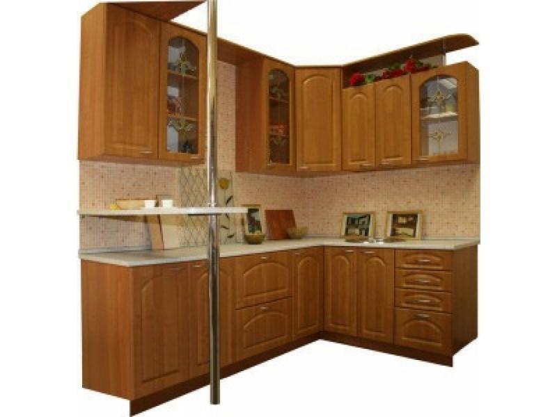 Кухонный гарнитур угловой Ольха 1