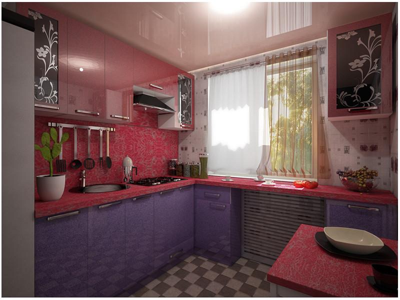 Кухня угловая МДФ Вики