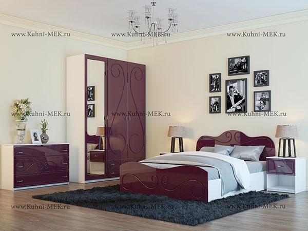 Спальня Классик-7-Гламур