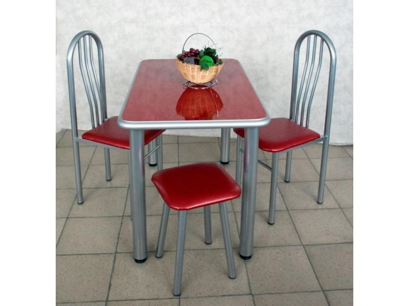 Стол обеденный красный