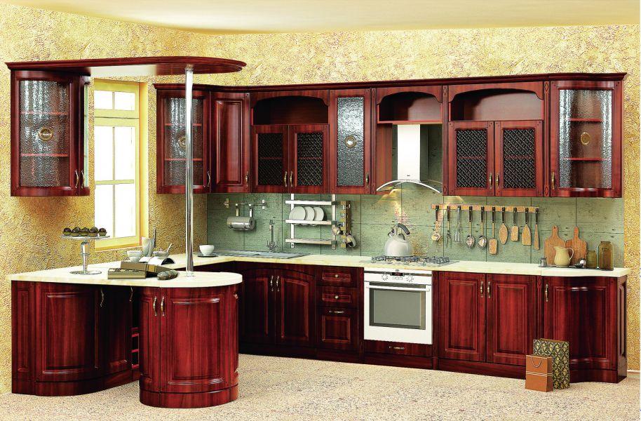 Модульная Кухня Нова 4 Орех кашир
