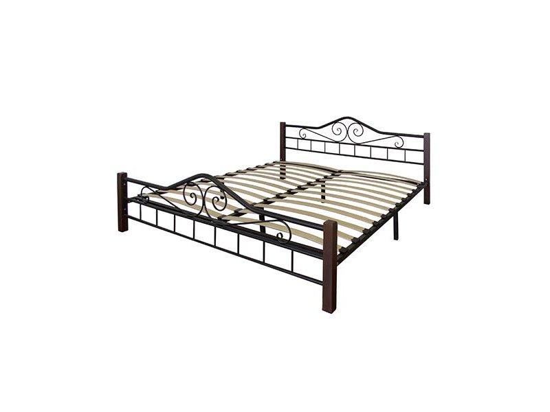 Кровать Сартон 1 (140) черный/средне-коричневый
