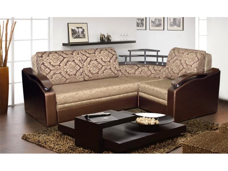 Угловой диван с баром Мальта