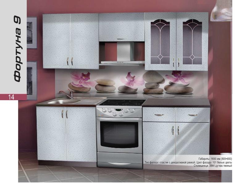 Кухонный гарнитур прямой Фортуна 9