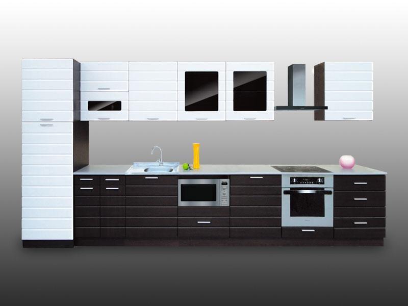 Кухонный гарнитур прямой Страйп 2
