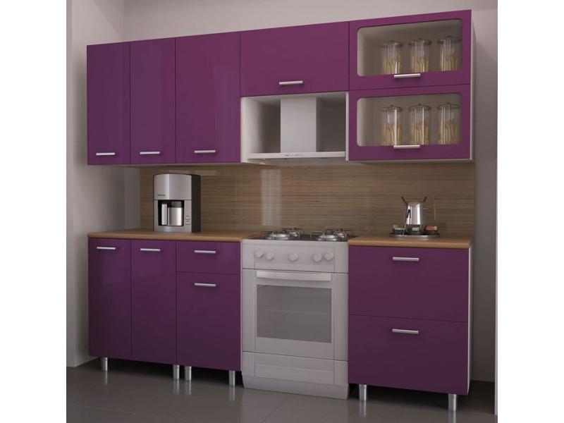 Кухонный гарнитур прямой Фиолет