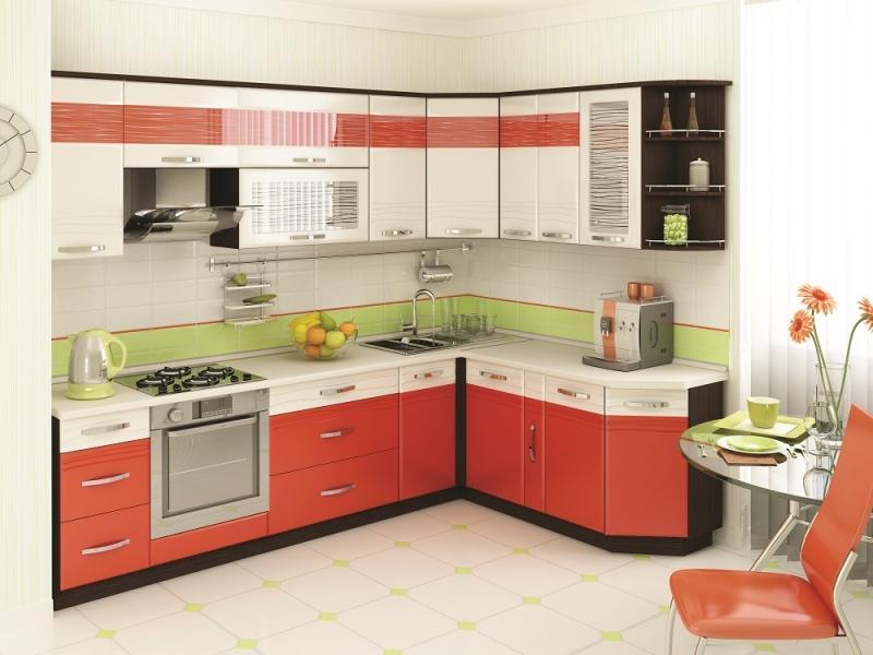 Кухонный гарнитур угловой Оранж 9