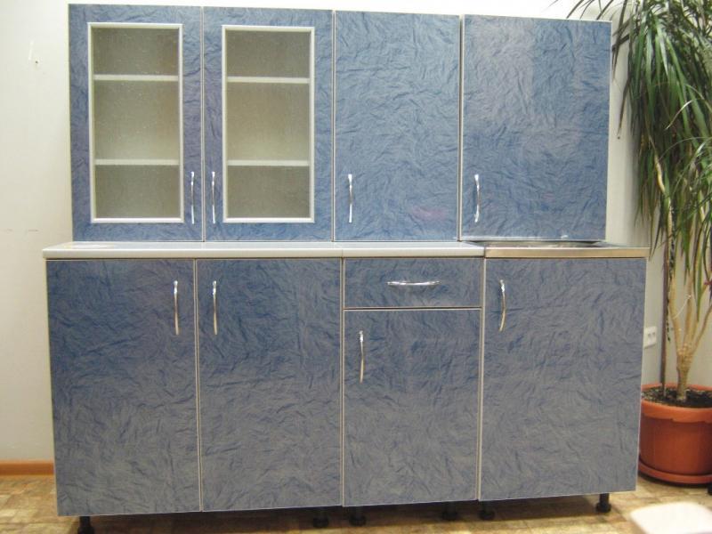 кухня прямая Визит-К(синий)