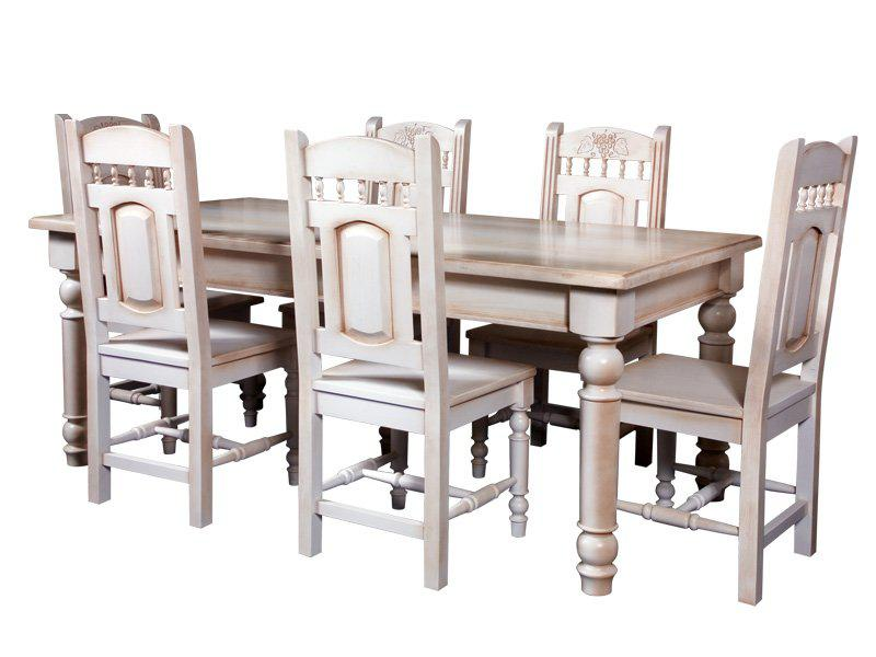 Стол обеденный «Викинг GL-05» + стул «Викинг GL-05»