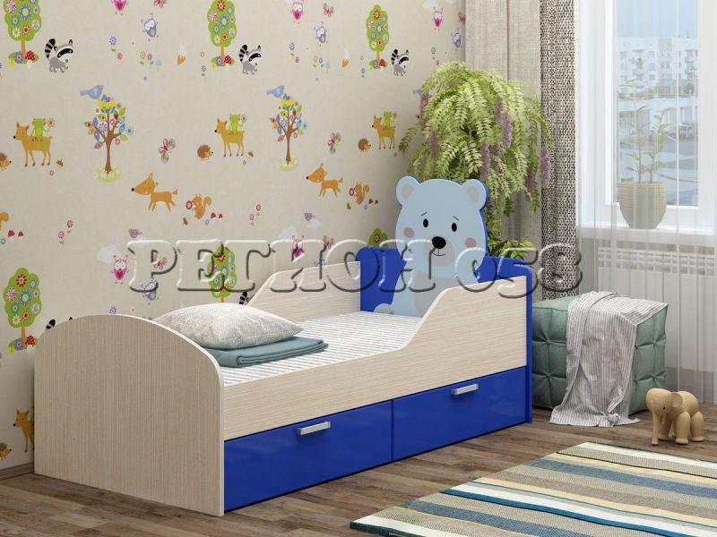 Детская кровать Бемби-5 МДФ с фотопечатью