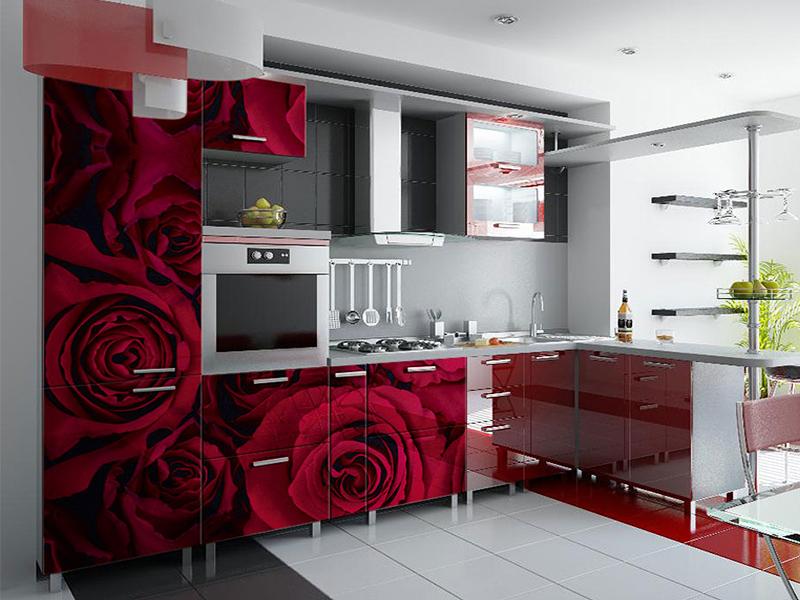 Кухонный гарнитур угловой 10 фотопечать