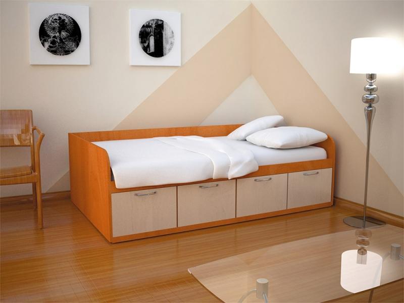 Кровать с 4-мя ящиками