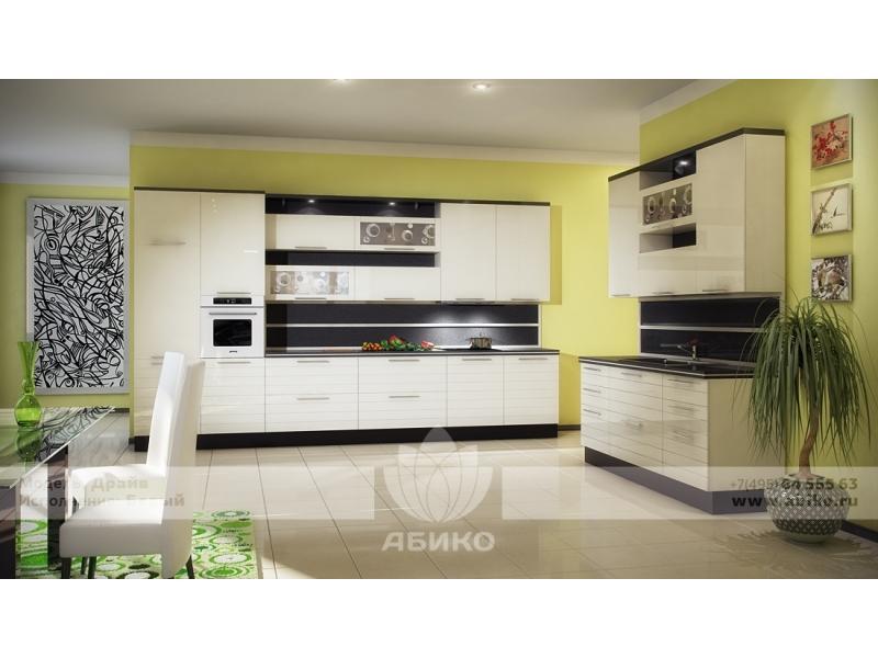 Кухня Драйв Белый глянец
