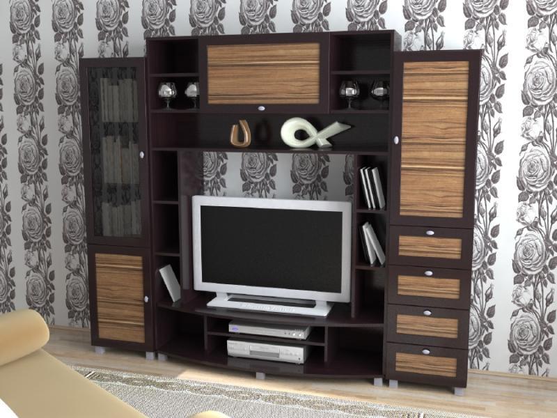 Модульная гостиная ТВ стенка