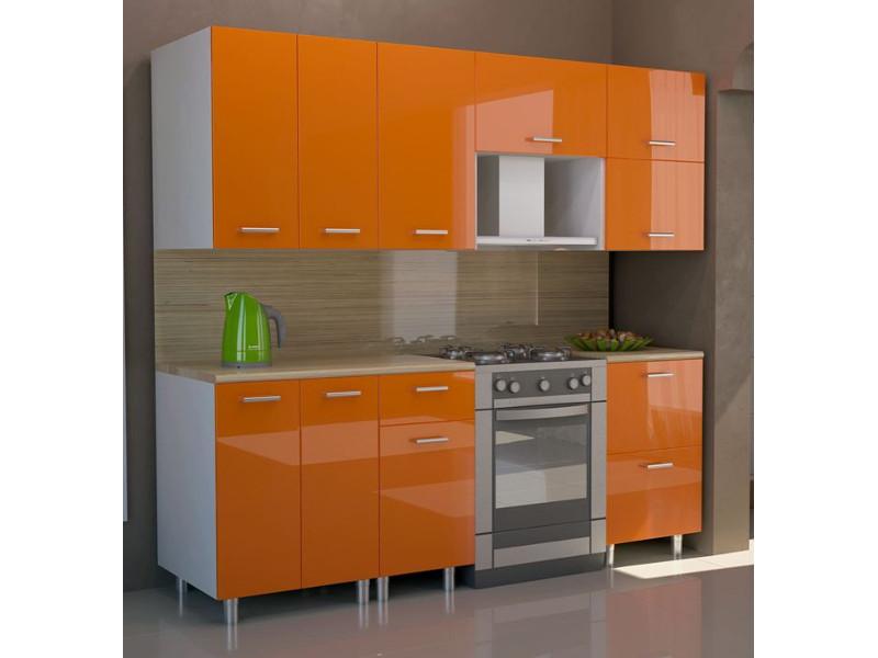 Кухонный гарнитур прямой Оранж