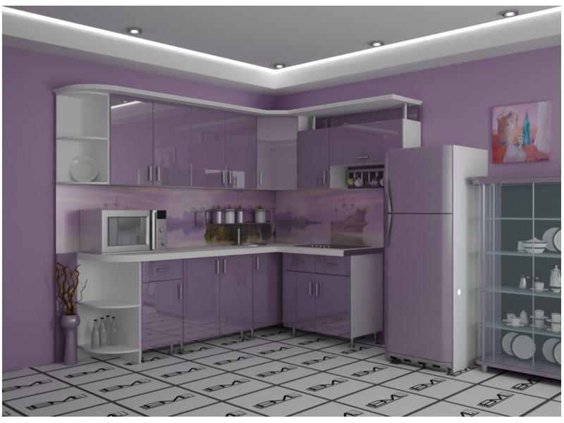 Кухня угловая Анита пластик