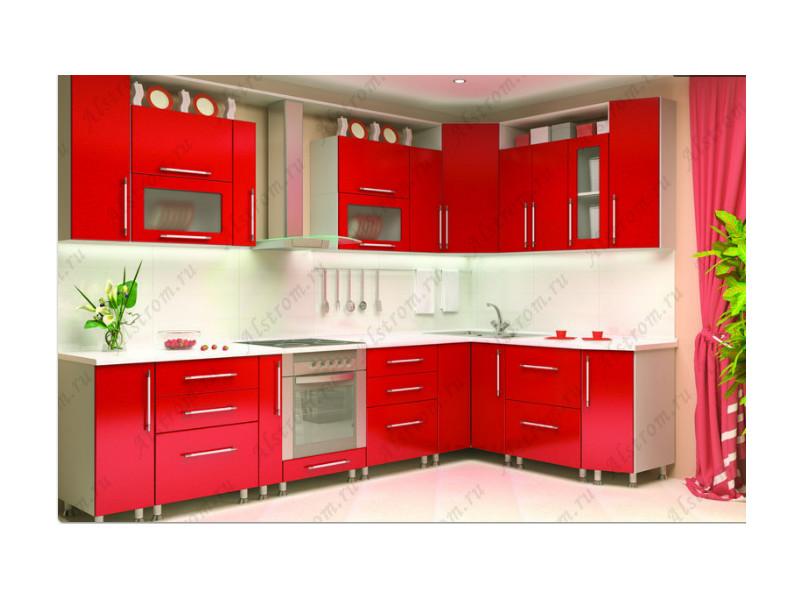 Кухня угловая МДФ мыло глянцевый металлик