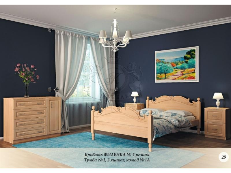 Кровать Филенка №1 резная
