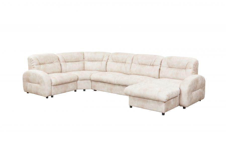 Большой  угловой диван с  оттоманкой