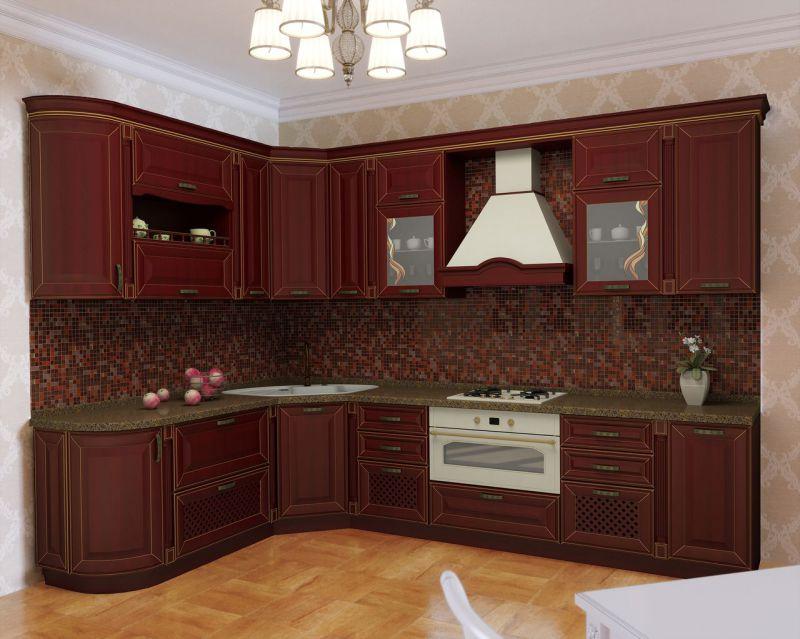 Кухня угловая Массив Дуба