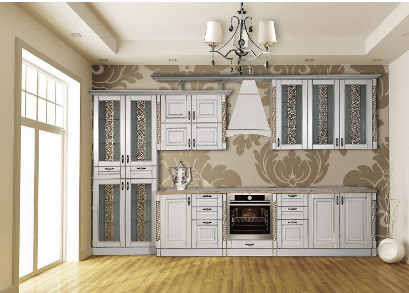 Кухня Жасмин Белая