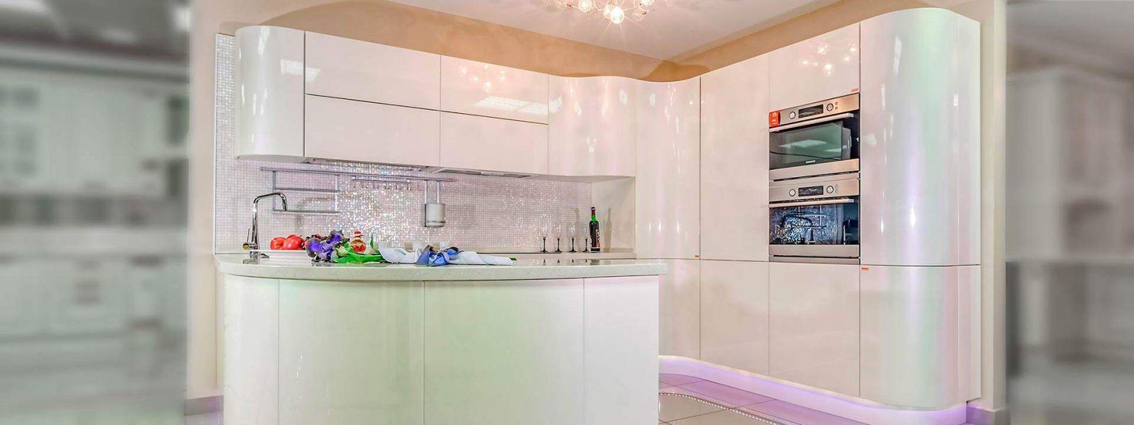 Кухонный гарнитур Светлана радиусные фасады