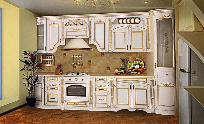 Кухня агата прямая