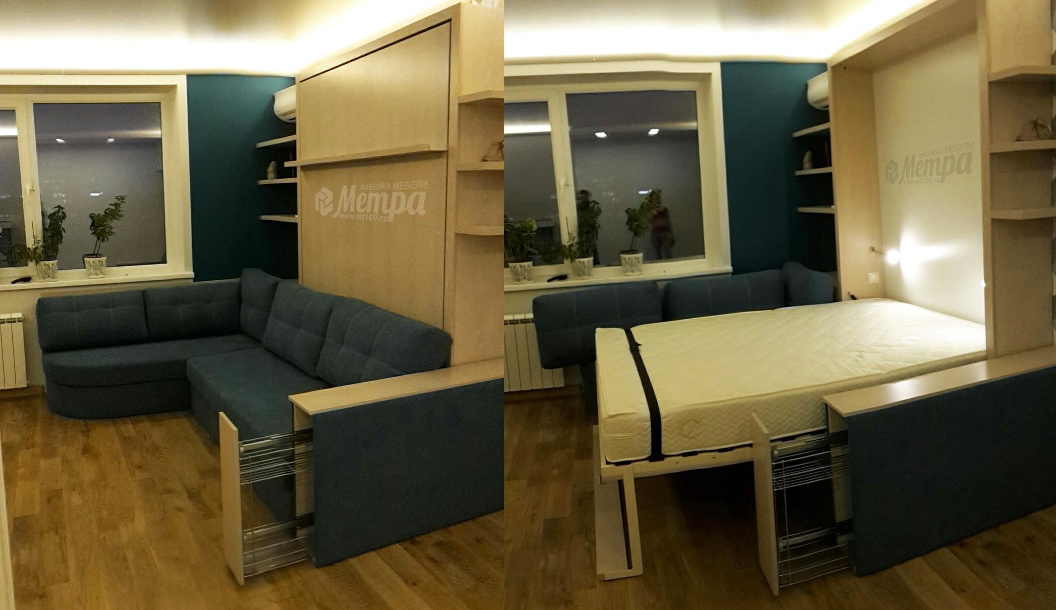 мебельная фабрика метра г москва шкаф кровать с полукруглым