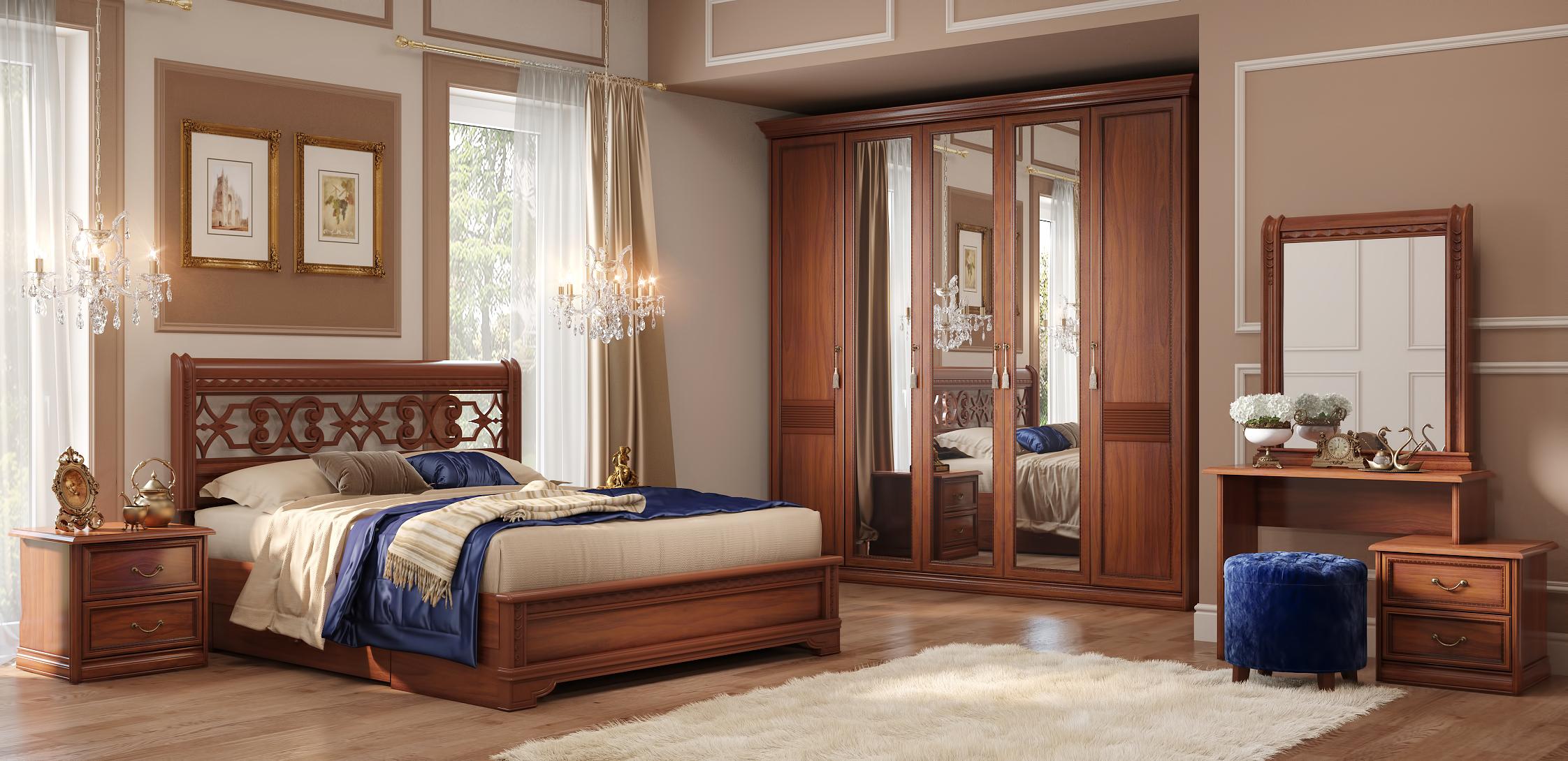 Спальный гарнитур шатура из натурального дерева
